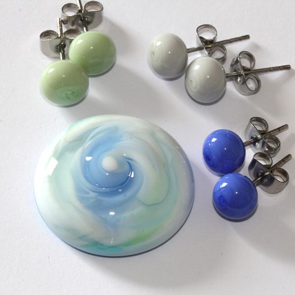 Ring-Top mint-saphirblau